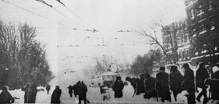 Очищення проспекту Леніна.